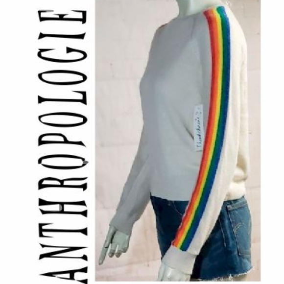 Anthropologie Sweaters - NWT ANTHROPOLOGIE RAINBOW CLOUD CHASER SWEATER SM
